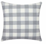 Throw Pillow Covers Gingham Black