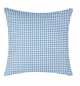 Throw Pillow Covers Gingham Blue