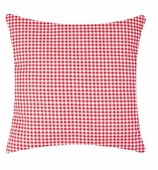 Throw Pillow Covers Gingham Red