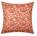 Throw Pillow Covers Red Paisley