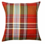Throw Pillow Covers Red Plaid