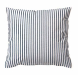 Throw Pillow Covers Ticking Blue