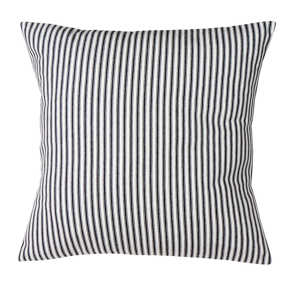 Black Stripe Throw Pillow : Throw Pillows for Couch