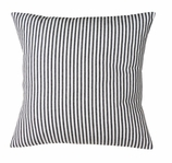 Throw Pillow Ticking Stripe Black