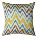 Throw Pillows Chevron Blue