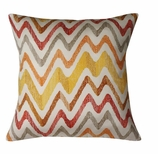 Throw Pillows Chevron Red