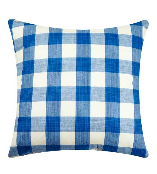 Throw Pillow Covers Gingham Blue. Click To Enlarge