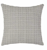 Throw Pillows Gingham Black