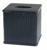 Tissue Box Cover Black