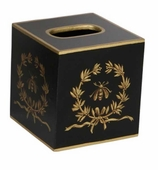 Tissue Box Cover Gold Bee