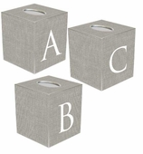Tissue Box Cover Personalized Gray