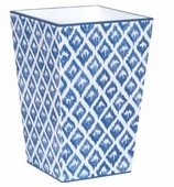 Trash Cans Blue Ikat