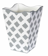 Trash Cans Gray Ikat