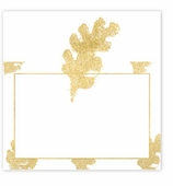 Unique Place Cards Gold Leaf