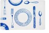 Vinyl Placemats Blue Setting