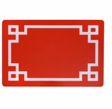 Vinyl Placemats Border Red