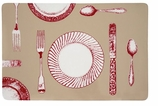 Vinyl Placemats Red Setting