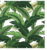 Outdoor Fabrics Leaves Green Swatch