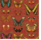 Wrapping Paper Butterfly Red