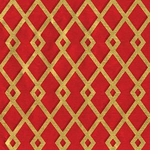 Wrapping Paper Red Gold Trellis