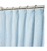 XXL Shower Curtains Blue Blue Ticking
