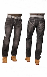 Indigo People Chase Slim Straight Leg jeans