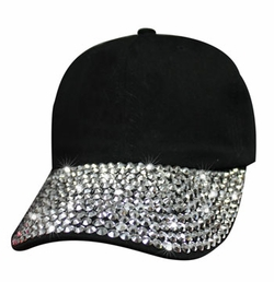 Ladies Black Bling Blank hat