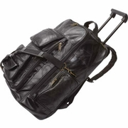 Leather Trolley Backpack