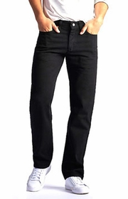 a278f9a4 Lee Mens Regular Fit Straight Leg jeans - Double Black-$32.98-Free  shipping-DenimExpress.com