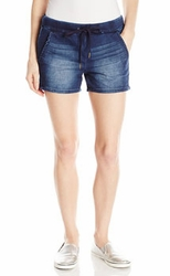 Seven7 Women's Knit Denim Track short - 2 colors