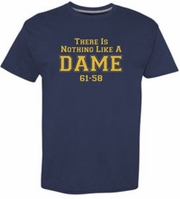 There Is Nothing Like a Dame Navy tee