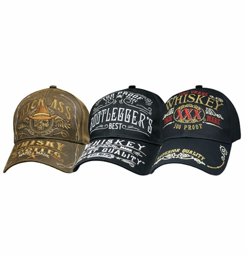 Whiskey Label hats - 3 options