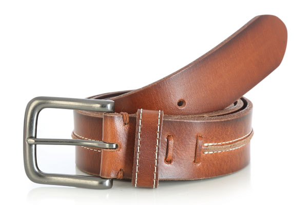 Wrangler Rugged Saddle Brown Center Pieced Belt