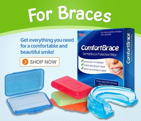 Products for dental braces, such as braces covers, dental wax, toothbrushes, and other orthodontic supplies
