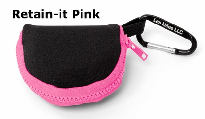 Retain-it Zippered Retainer Case Holder with Clip