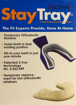 Stay Tray Temporary Replacement For Lost or Broken Orthodontic Retainers