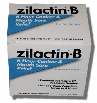 Zilactin-B Mouth Sore Gel, 60 Packets