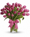 30 pink tulips - Designs East Florist Dallas