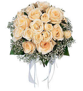 Hand-Tied peach Rose Nosegay