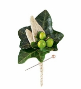 Mixed Foliage Boutonniere