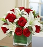 Modern Embrace� - Christmas Rose and Lily Cube