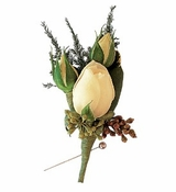 White Spray Rose Boutonniere
