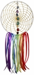 9 inch Rainbow Ribbon Chakra Dreamcatcher