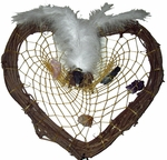 Grapevine Heart Crystal Weaver Custom Dreamcatcher