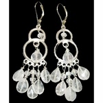Mystic Moonstone 9th Chakra Chandelier Earrings