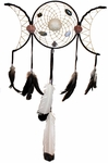 Triple Moon Goddess Dreamcatcher