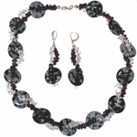 Triple Twist Snowflake Obsidian Ensemble