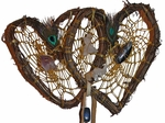 Twin Hearts Relationship Weave Dreamcatcher