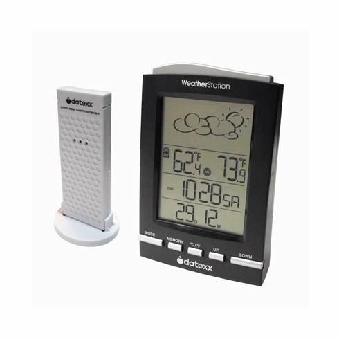 Datexx DF-338 5-Symbol Weather Forecast Station w/ Outdoor Sensor