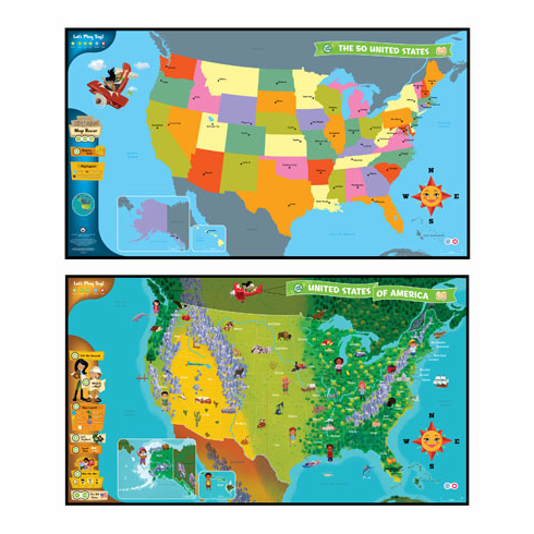 LeapFrog Enterprises 24025 Tag United States of America Map